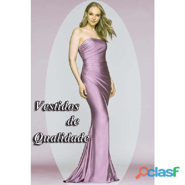 Vestido de formatura em cetim importado na cor lilás