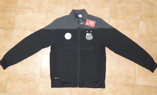 Blusa - jaqueta santos f. c. de treino - nike original - dry
