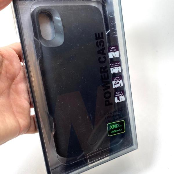 Case carregadora smart battery iphone xs capa max bateria