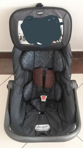 Cadeirinha bebê conforto com base burigotto + espelho kiddo