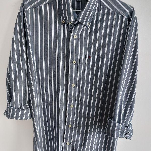 Camisa manga longa, listrada, tommy hielfeger.