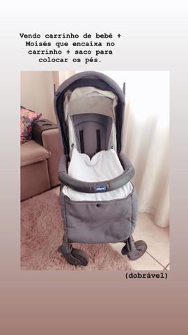 Carrinho de bebê + moisés