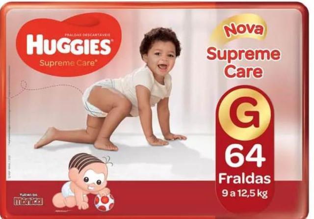 Fralda huggies supreme care tam (g) - pacotão com 64