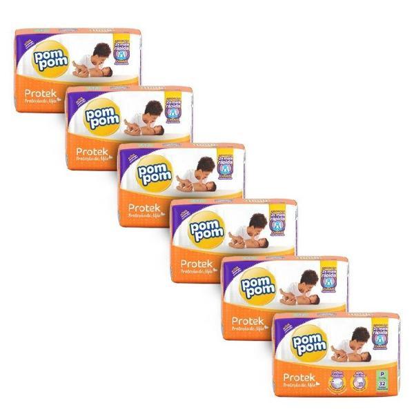 Fralda infantil pompom proteção de mãe jumbo - 6 pacotes