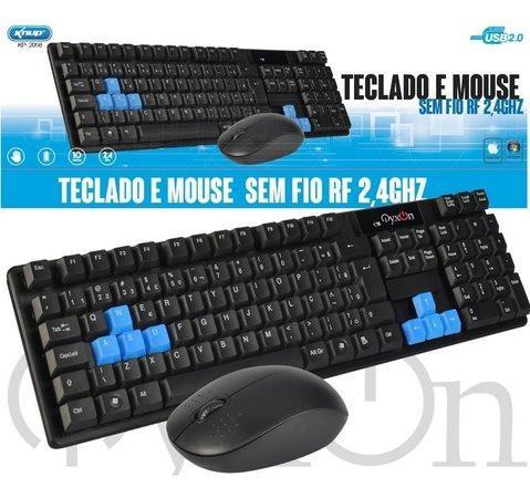 Kit teclado e mouse sem fio kp-2058 - knup