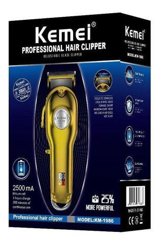 Máquina de cortar cabelo profissional com display kemei