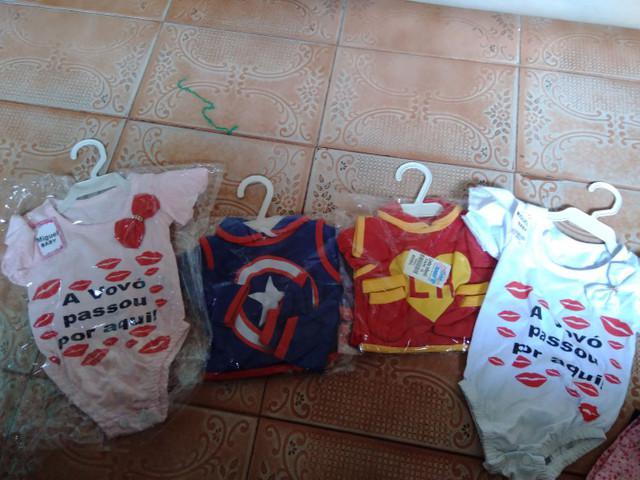 Roupinhas bebê novas cada $15