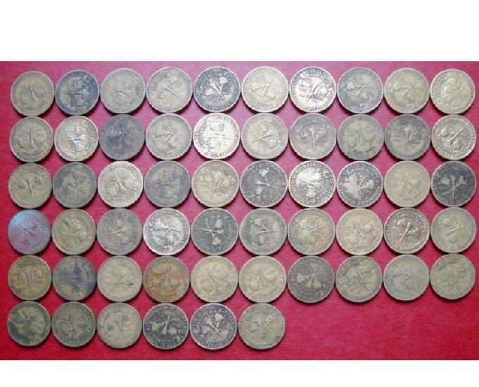 Vende-se moedas de réis e cruzeiros amarelas por r$25 o kg