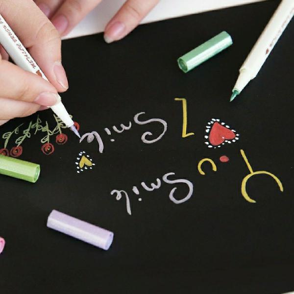 Brush pen metálica verde claro