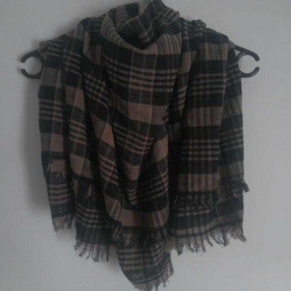 Cachecol lenço scarf siberian xadrez