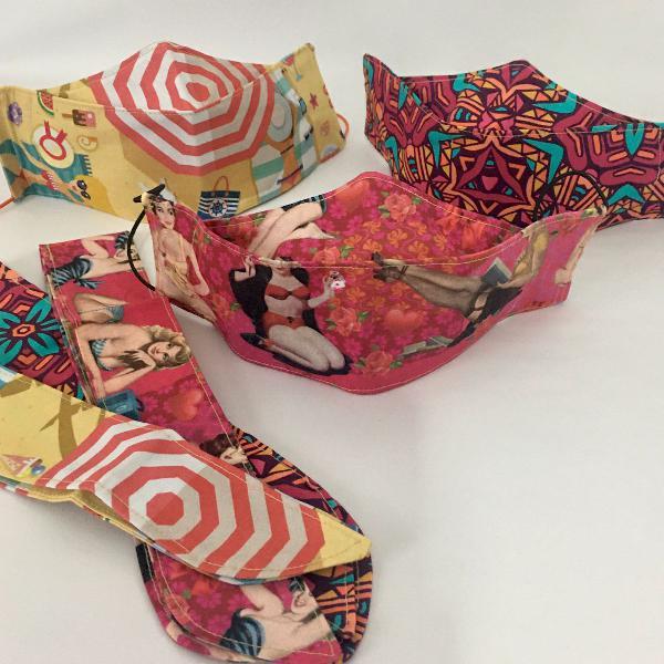 Kit máscaras de tecido fashion