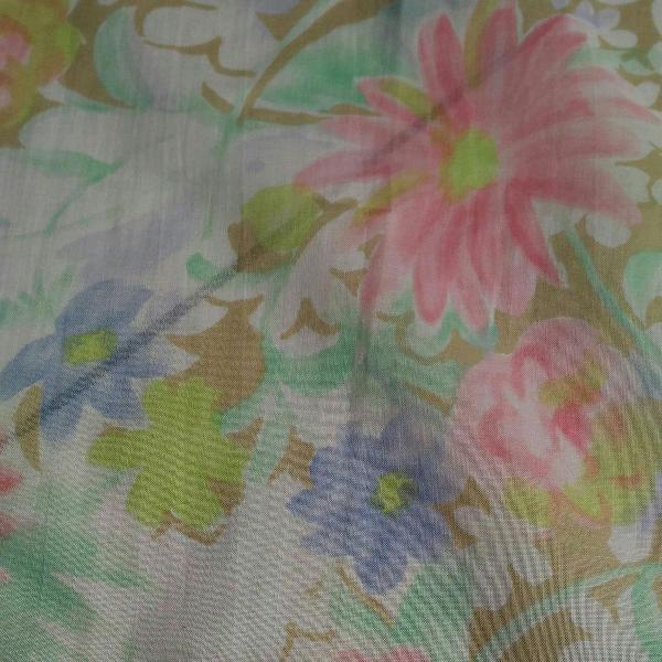 Lenço quadrado de mão flores do japão