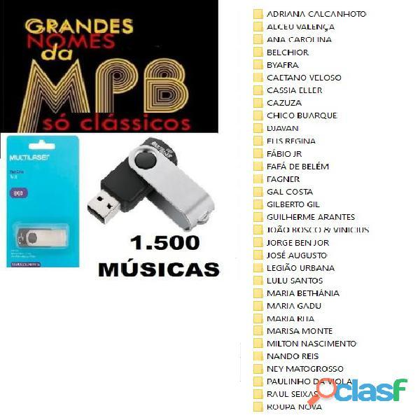 pendrive 8 gb multilaser ( Classicos da MPB   1.500 Músicas )