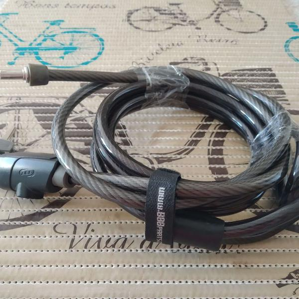 Trava cabo de aço antifurto revestido e extensão