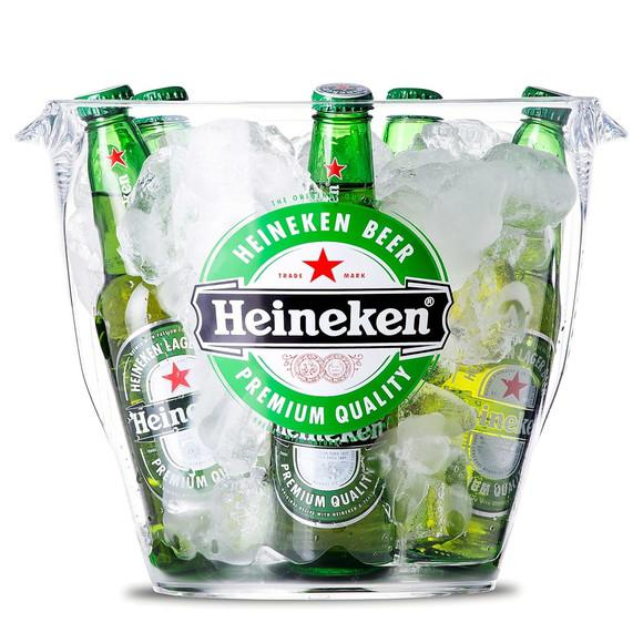 Balde de gelo heineken 7,6 litros - em acrílico