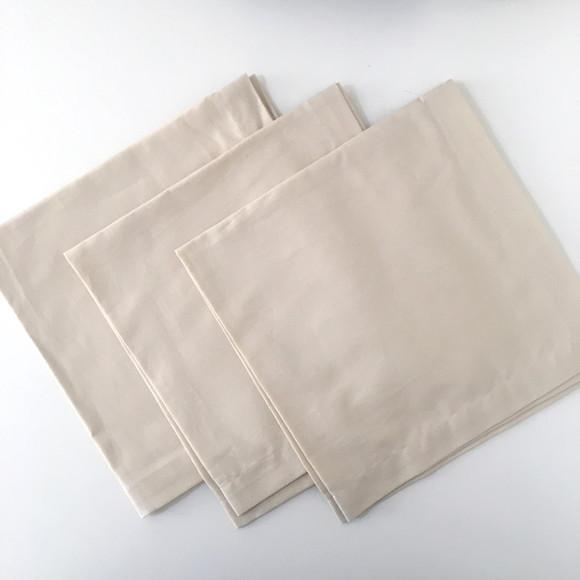 Guardanapo de tecido bege (180 fios)