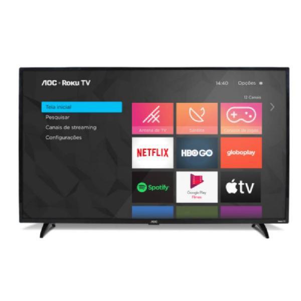 """Smart tv aoc roku 32"""" led hd hdmi usb miracast roku mobile"""