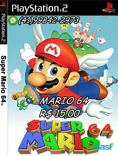 R$ 15 Mario 64 para PS2