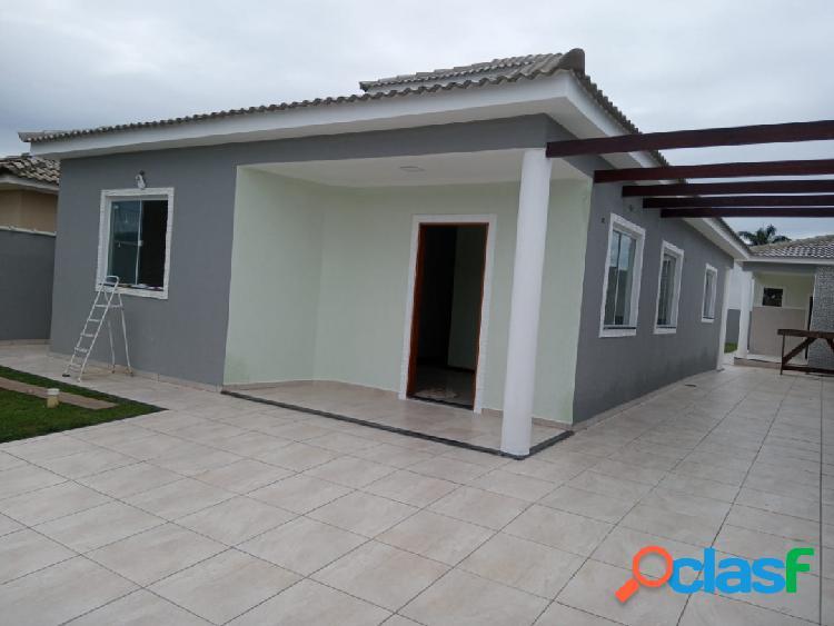 Casa de 03 quartos com área gourmet e churrasqueira em itaipuaçu