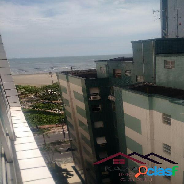 Apartamento 02 dormitórios no gonzaga prédio frente mar com vista lateral