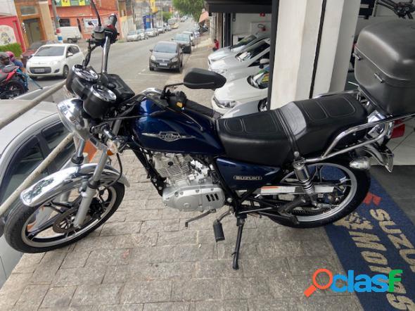 Suzuki intruder 125 azul 2014 125 gasolina