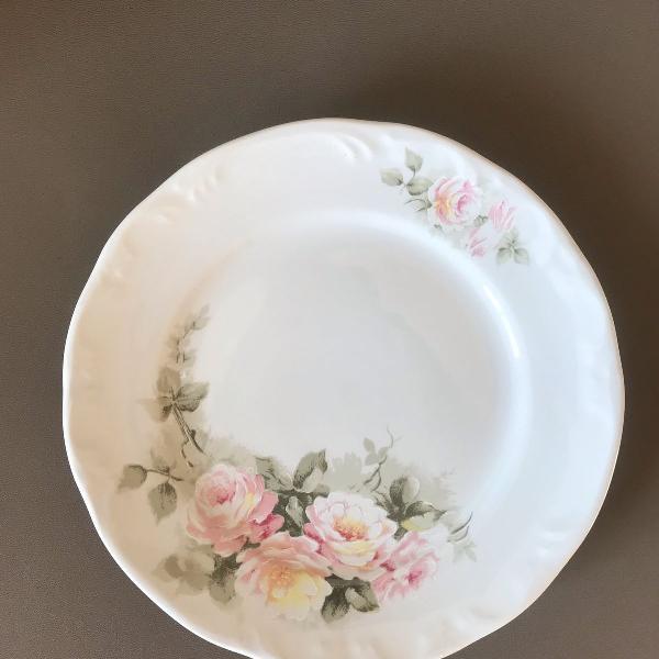 9 pratos sobremesa porcelana eterna schmidt floral