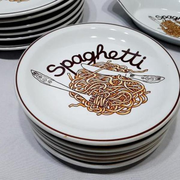 Jogo jantar p/ spaghetti 11 pçs porcelana schmidt