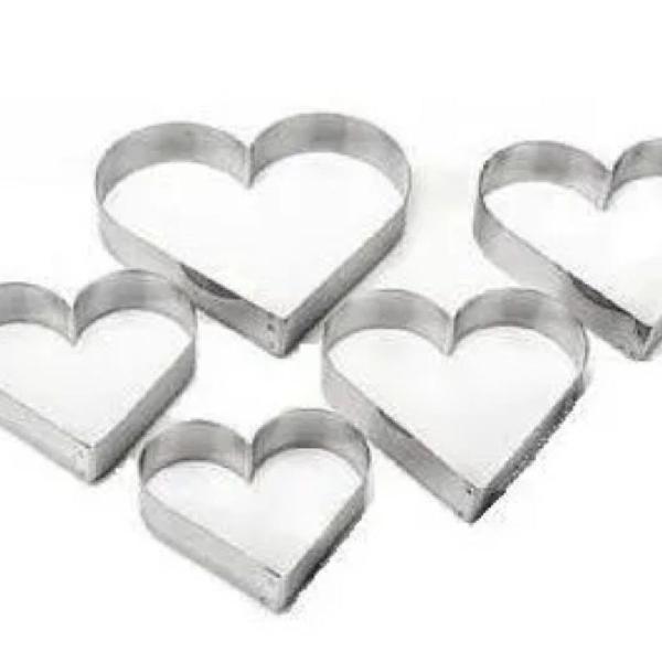 Oferta cortador para biscoito 5 peças aço inox formato
