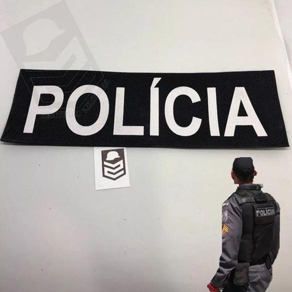 Patch c/ fecho contato para colete policia militar civil pe