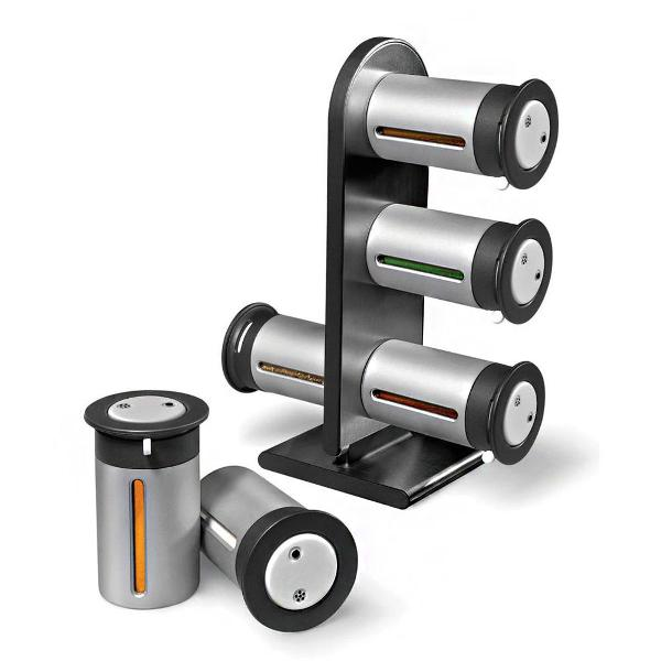 Porta temperos magnetico condimentos 6 peças cozinha casa