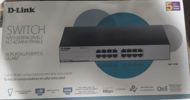 Switch dlink 16 portas gigabit