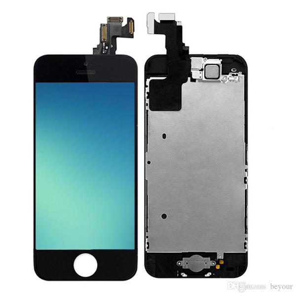 Tela display lcd touch iphone se 5s 5se apple - branco ou