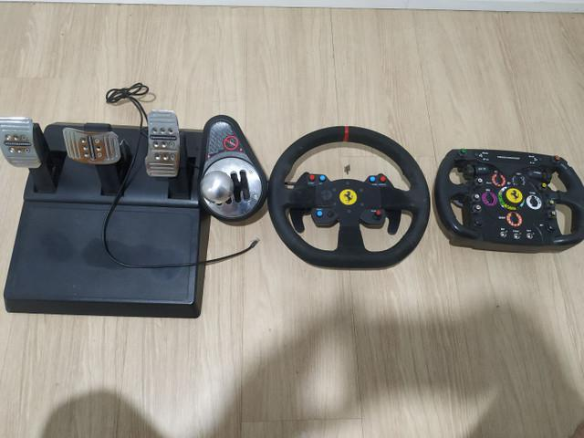 Thrustmaster: pedal t3pa, cam th8a (vendido), volante 599xx