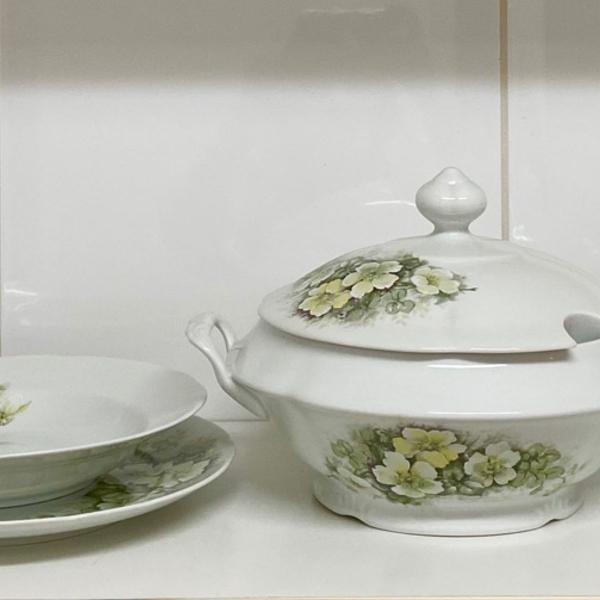 Jogo jantar 39 peças eterna porcelana schmidt p/ 12 pessoas