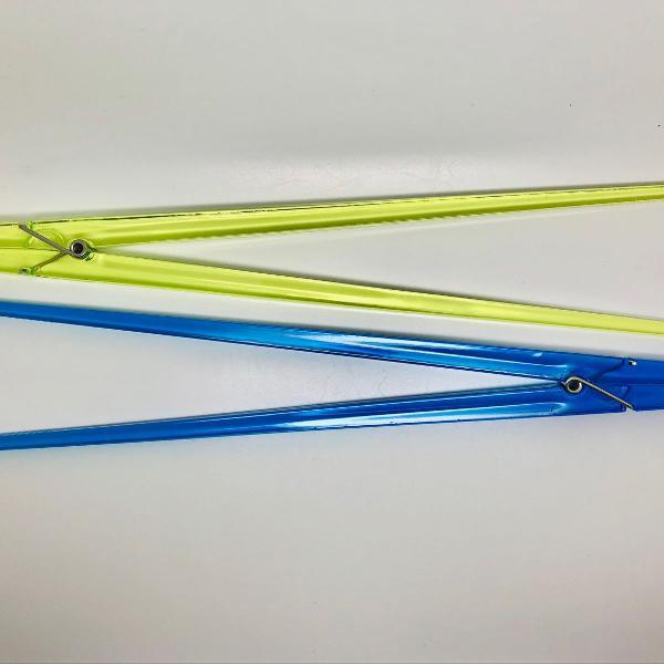 Pegador multiuso acrílico amarelo e azul hashi