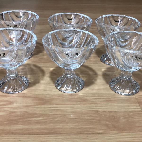 Wolff conjunto de taças para sobremesa de cristal com pé