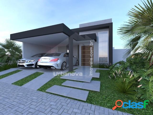 Urbanova - casa térrea, 3 suítes, ambientes amplos - entrega em dez/20