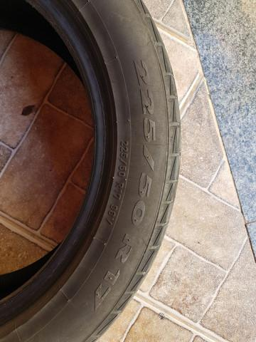 2 pneus semi novos pirreli cinturado p1 225/50 r17