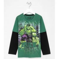 Camiseta infantil sobreposta estampa do hulk <div