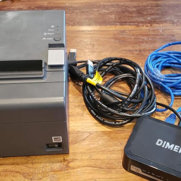 Combo sat fiscal dimep 2.0 + impressora termica epson tm-t20