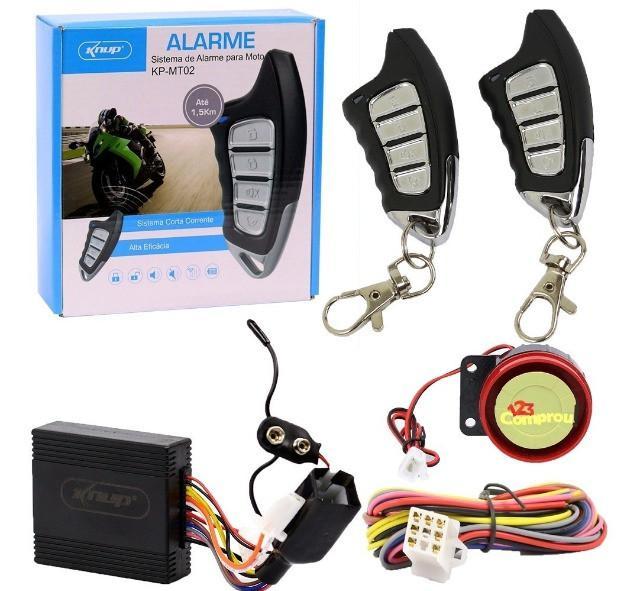 Sistema alarme moto sirene knup corta combustível kp-mt02