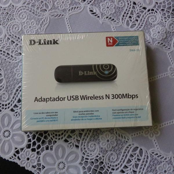 Adaptador usb wireless n 300mbps - dwa132 - d-link