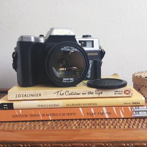 Camera analógica yashica 2000n com flash