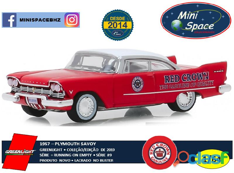 Greenlight 1957 plymouth savoy logo red crown 1/64