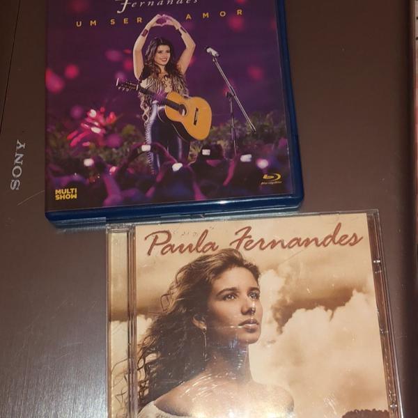 Kit paula fernandes: blu ray um ser amor e cd dust in the