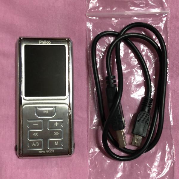 Mp4 ph305 philco 4gb com rádio fm e gravador áudio