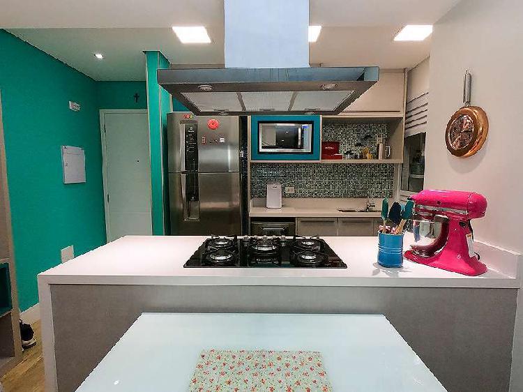 Apartamento 87 m² , totalmente mobiliado, alto da mooca -