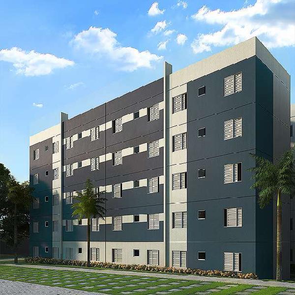 Apartamento para venda com 2 quartos em chácaras assay -