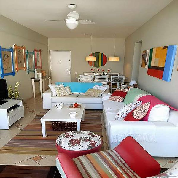 Apto à venda com 90 m2: 3 quartos, vista p/ o mar. 1 quadra
