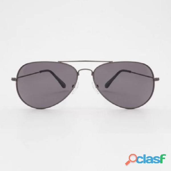 Óculos de sol aviador prata proteção uva/uvb